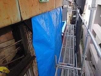 中央区トタン外壁台風被害006