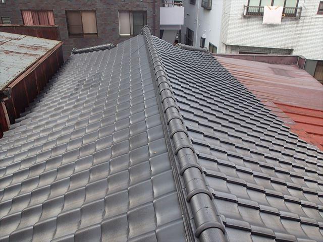荒川区瓦屋根の調査