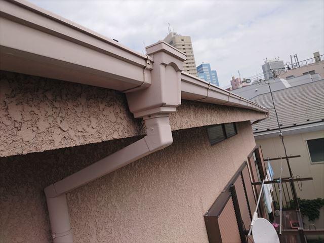 豊島区樋の隙間雨漏り雹災?大001
