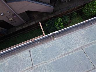 豊島区樋の隙間雨漏り雹災?004