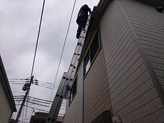 葛飾区雨樋詰まり音発生004