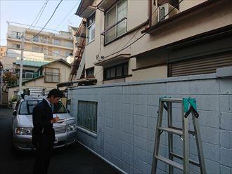 豊島区雹災鑑定立ち合い002
