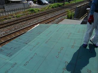 葛飾区物置屋根葺き替え工事002