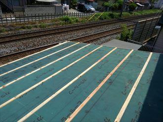 葛飾区物置屋根葺き替え工事003