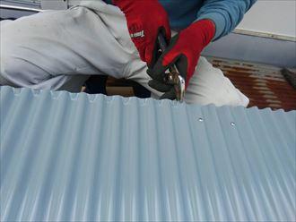 葛飾区物置屋根葺き替え工事004