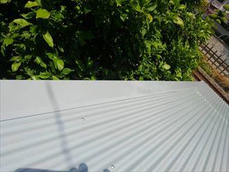 葛飾区物置屋根葺き替え工事005