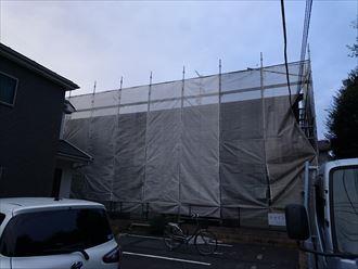 葛飾区アパート屋根塗装工事002