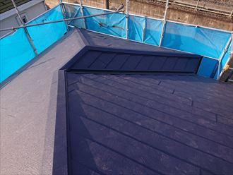 江戸川区屋根リフォーム青い屋根004