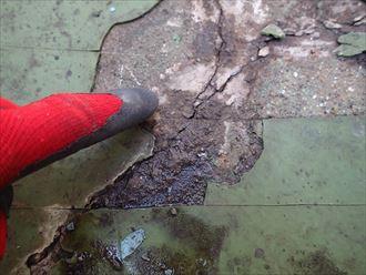 過去モルタル防水亀裂