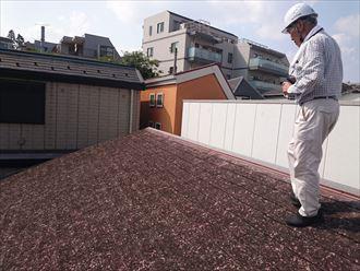 文京区雹災屋根破損調査005
