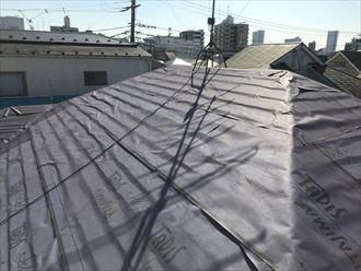 江戸川区雨漏り前に屋根カバー工事003
