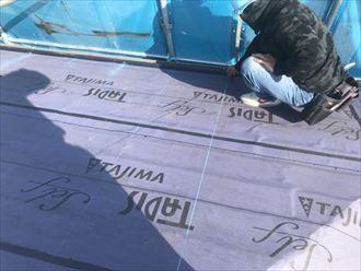 江戸川区雨漏り前に屋根カバー工事005