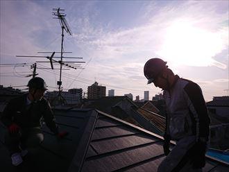 江戸川区雨漏り前に屋根カバー工事009