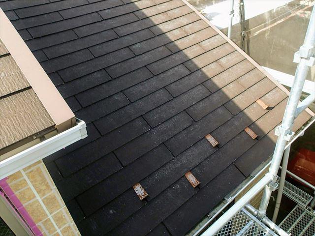 塗装前屋根色ブラウン系