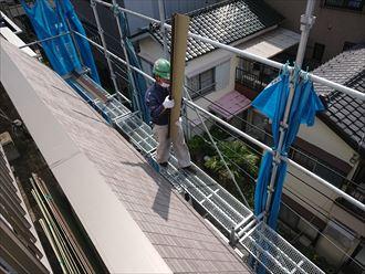 江戸川区斜壁雨漏り002