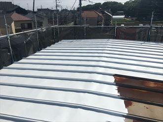 江戸川区鋼板屋根塗装下塗り001