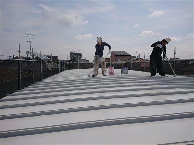 江戸川区鋼板屋根塗装大001