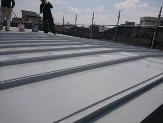 江戸川区鋼板屋根塗装001