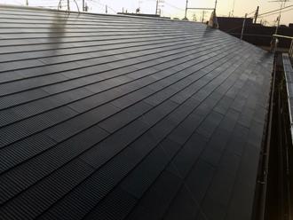 スレート屋根塗装・上塗り完了