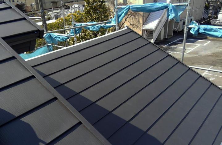 屋根カバー工事、完了