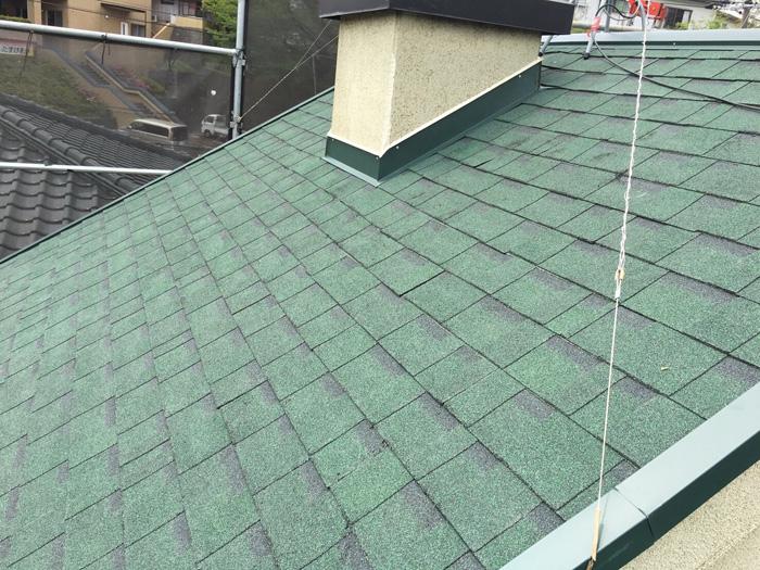 中野区 オークリッジスーパーで屋根葺き替え工事完了