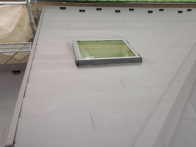 屋根カバー工法施工後スーパーガルテクトフッ素