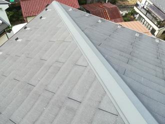 中野区 スレート屋根の塗装前