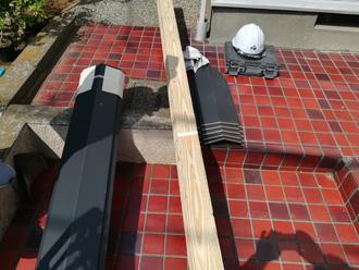 練馬区 棟板金交換に使用する貫板と板金