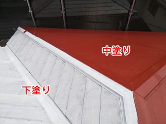 渋谷区でファインパーフェクトベストを使ったスレート屋根の塗装