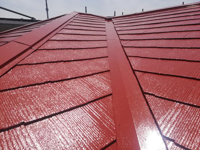 渋谷区 スレート屋根の塗装完了