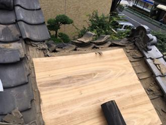 渋谷区 野地板を新しく設置