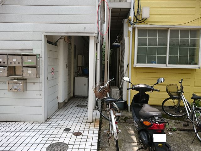 江戸川区アパート雨樋不良大001