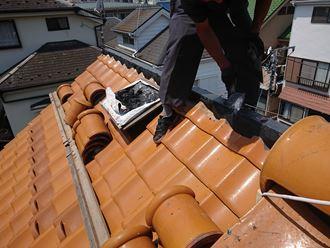 棟に軽量シルガード盛りと樹脂製貫板
