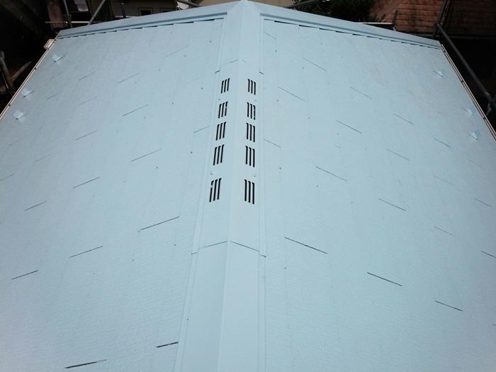 千代田区 サーモアイ4F で屋根塗装 完了