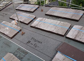 練馬区 野地板交換、防水紙設置