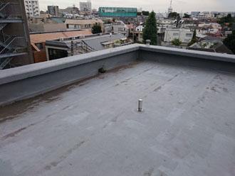 色褪せた陸屋根