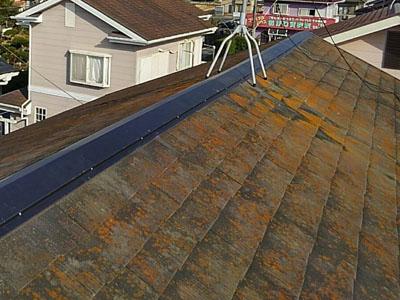 棟板金を交換した屋根