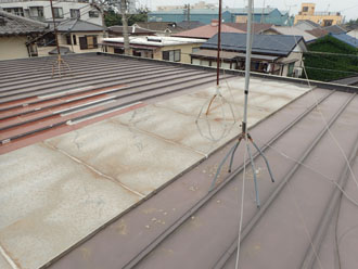 部分的屋根カバー工法施工前
