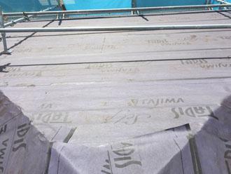 目黒区防水紙の敷設