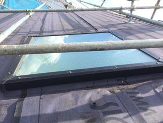 天窓周辺に防水を敷設