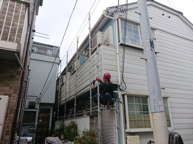 江戸川区アパート雨樋工事大001