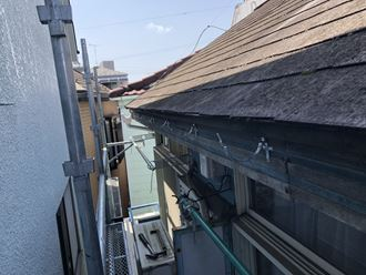 江戸川区アパート雨樋工事004