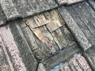 葛飾区瓦屋根の雨漏り