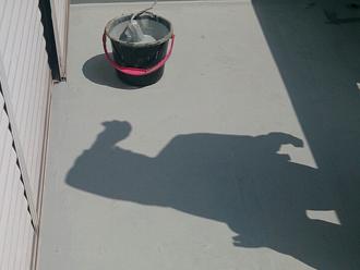 八王子市 バルコニーの床の防水工事 ウレタン二度塗り