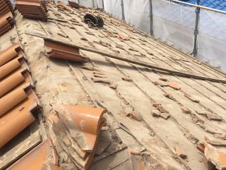 練馬区 古い屋根材を撤去