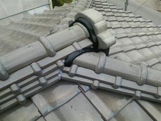 棟の漆喰補修工事
