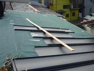 トタン屋根の葺き方