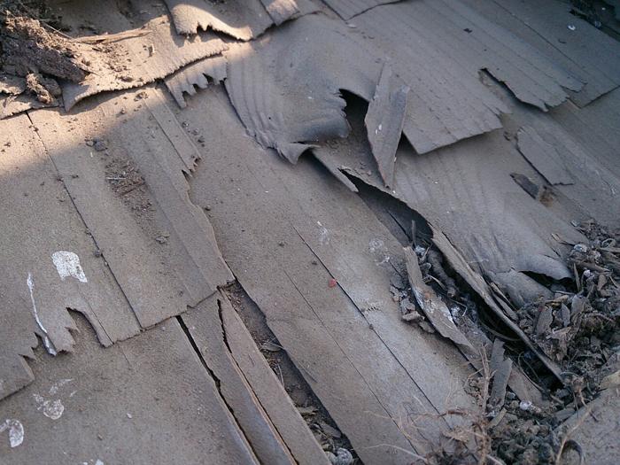 武蔵野市 防水紙のトントンが劣化している
