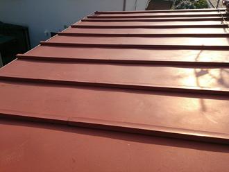 武蔵野市 下屋の屋根は瓦棒屋根