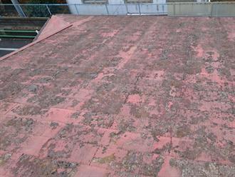 スレート屋根材の劣化